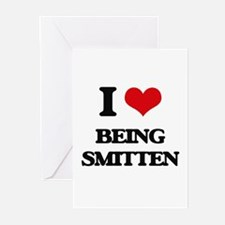 I love Being Smitten Greeting Cards