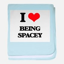 I love Being Spacey baby blanket