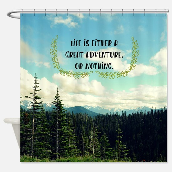 A Great Adventure Shower Curtain