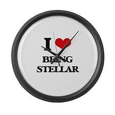 I love Being Stellar Large Wall Clock