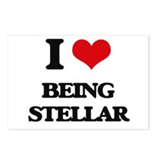 I love Being Stellar Postcards (Package of 8)
