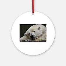 Polar bear 011 Ornament (Round)