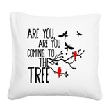 Hanging tree Square Canvas Pillows