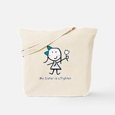 Teal & White - Sister Tote Bag