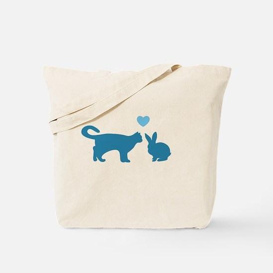 Cat Meets Bunny Tote Bag