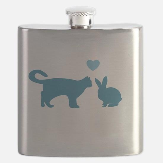 Cat Meets Bunny Flask