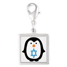 PENQUIN WITH JEWISH STAR Charms