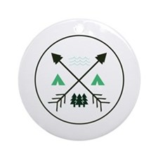 Camping Patch Ornament (Round)