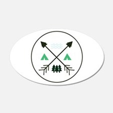Camping Patch Wall Decal