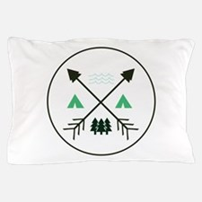 Camping Patch Pillow Case