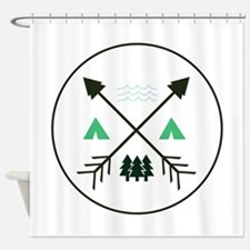 Camping Patch Shower Curtain