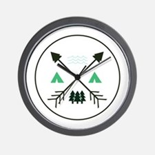 Camping Patch Wall Clock