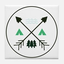 Camping Patch Tile Coaster