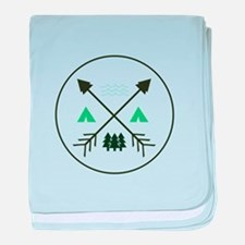 Camping Patch baby blanket