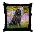 Garden / Newfoundland Throw Pillow