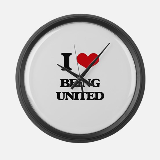 I love Being United Large Wall Clock
