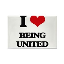 I love Being United Magnets