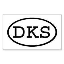 DKS Oval Rectangle Decal