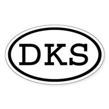 DKS Oval Oval Decal