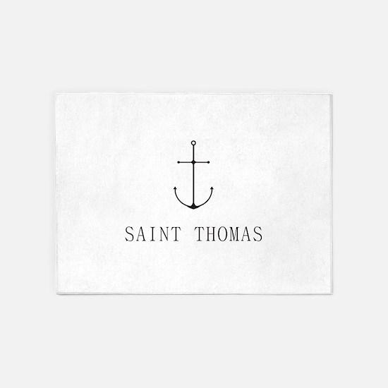 Saint Thomas Sailing Anchor 5'x7'Area Rug