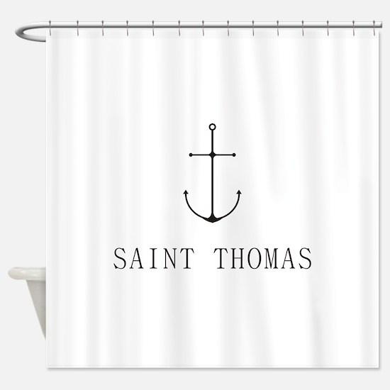 Saint Thomas Sailing Anchor Shower Curtain