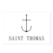 Saint Thomas Sailing Anchor Postcards (Package of