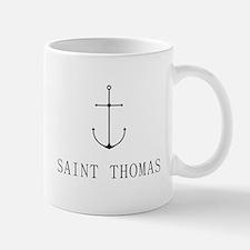 Saint Thomas Sailing Anchor Mugs