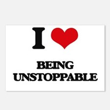 I love Being Unstoppable Postcards (Package of 8)