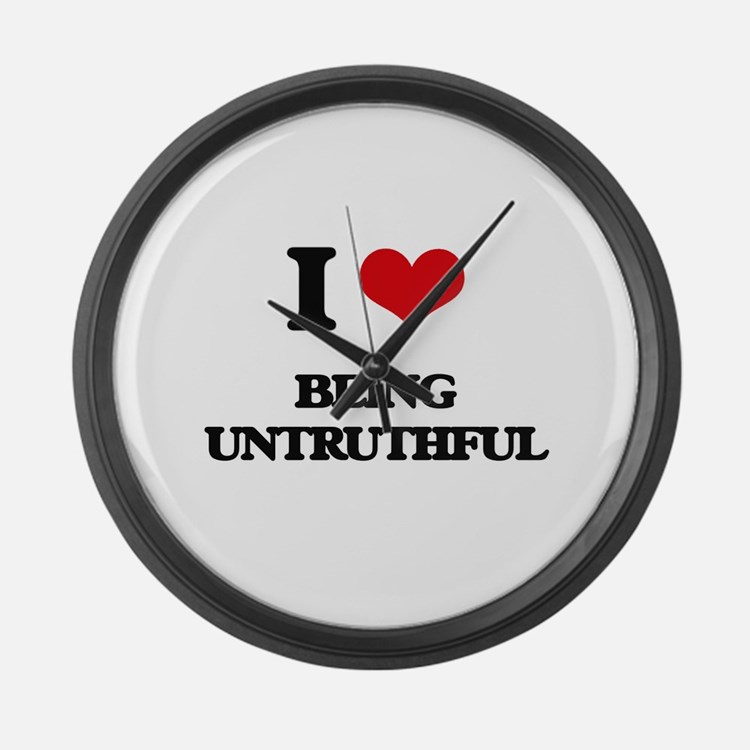 I love Being Untruthful Large Wall Clock