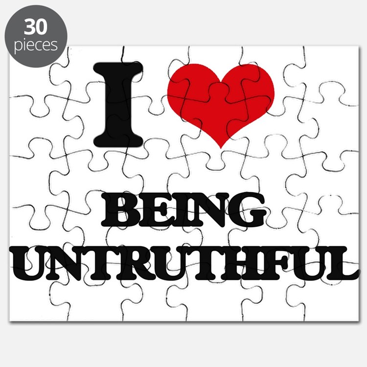 I love Being Untruthful Puzzle