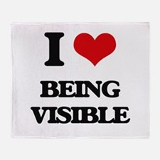 I love Being Visible Throw Blanket