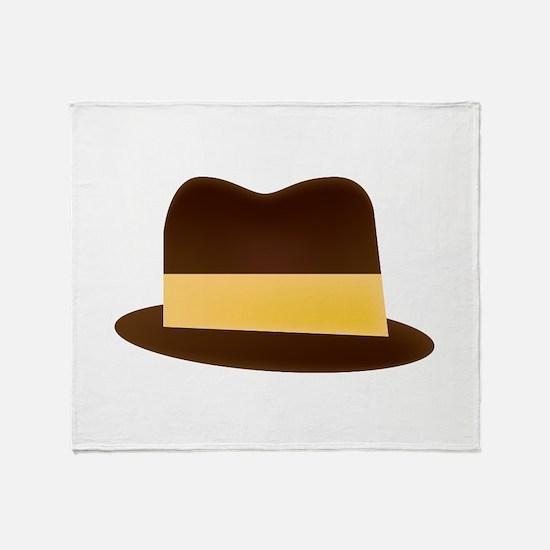 Fedora Hat Throw Blanket