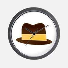 Fedora Hat Wall Clock