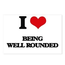 I love Being Well-Rounded Postcards (Package of 8)