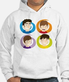 Swirly Whirly Faces Hoodie