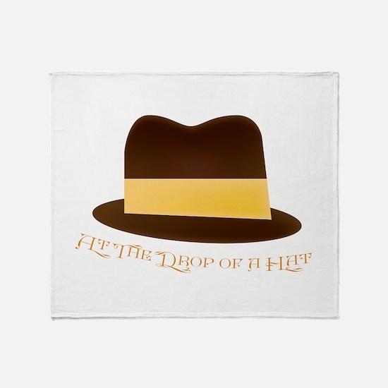 Drop Of A Hat Throw Blanket