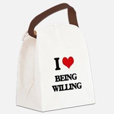 I love Being Willing Canvas Lunch Bag