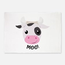 Moo Cow 5'x7'Area Rug