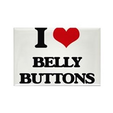I Love Belly Buttons Magnets