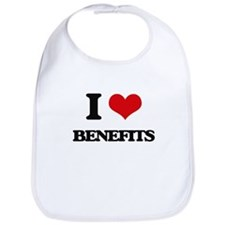 I Love Benefits Bib