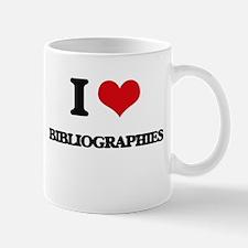 I Love Bibliographies Mugs
