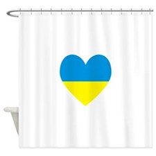 Ukrainian Flag Heart Shower Curtain