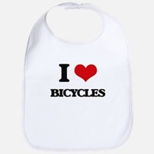 I Love Bicycles Bib