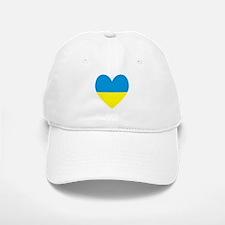 Ukrainian Flag Heart Baseball Baseball Cap