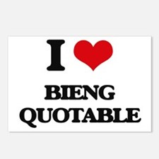 I Love Bieng Quotable Postcards (Package of 8)