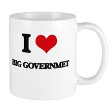 I Love Big Governmet Mugs