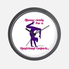 Gymnastics Clock - Handstand