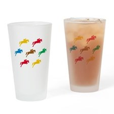 Equestrian Horses Drinking Glass