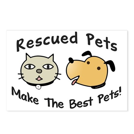 Rescued Pets - The Best Pets Postcards (Package of