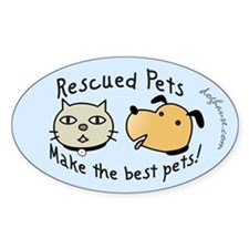 Rescued Pets - The Best Pets Oval Decal